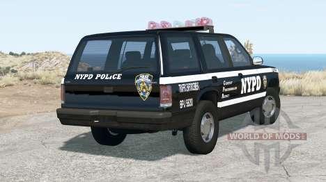 Gavril Roamer NYPD Traffic Enforcement para BeamNG Drive