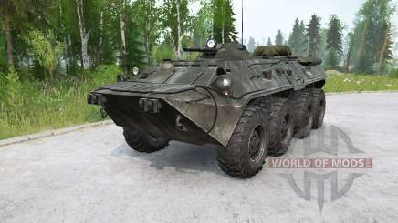 BTR-80〡 natación para MudRunner