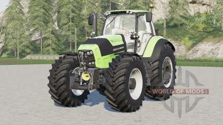 Deutz-Fahr Serie 7 TTV Agrotron〡con nueva configuración de neumáticos proporcionada para Farming Simulator 2017