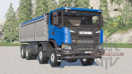 Scania G 370 XT 8x8 tipper 2017 para Farming Simulator 2017