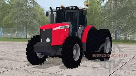 Massey Ferguson 7415 ruedas traseras individuales para Farming Simulator 2017