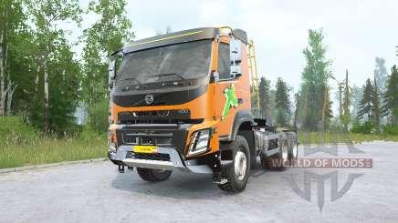 Volvo FMX 500 6x6 tractor Day Cab v2.0 para MudRunner