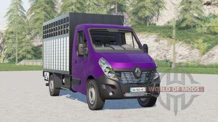 Renault Master Camión Ganadero para Farming Simulator 2017