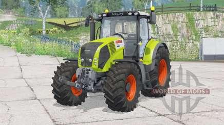 Claas Axion 850〡 plegando el gancho delantero para Farming Simulator 2015