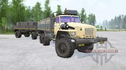Ural-4320 6x6〡various animaciones para MudRunner